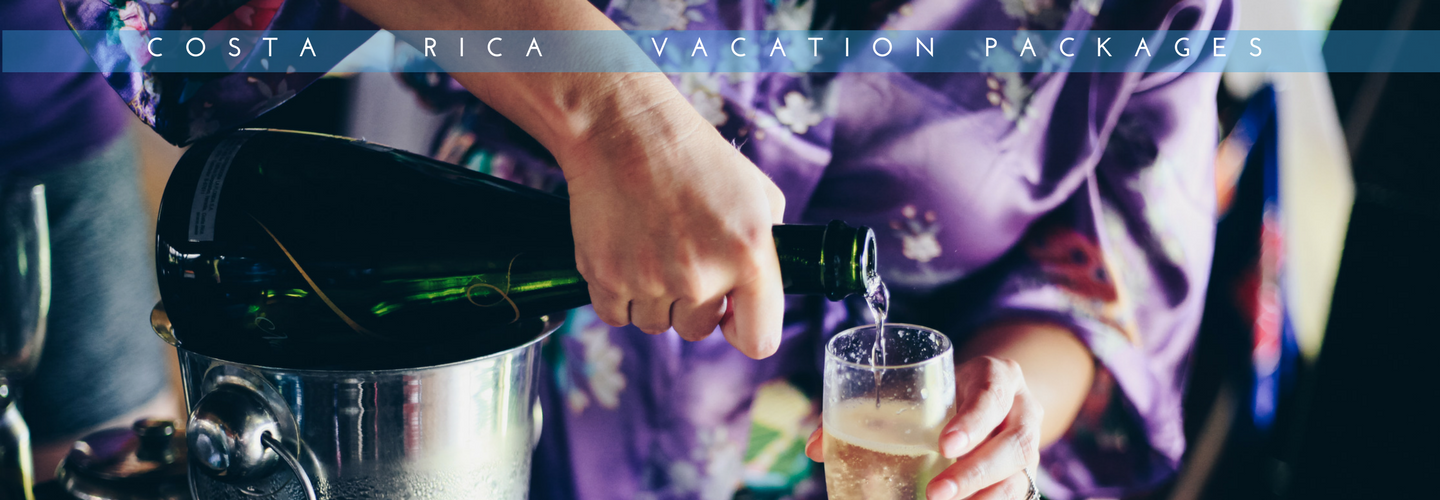 Champagne toast for your Costa Rican vacation