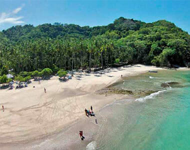 the pristine, private beach at the Ylang Ylang Beach Resort